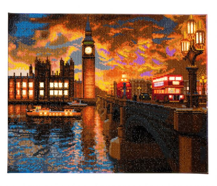 Crystal Art London Sunset LED picture D.I.Y kit